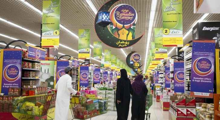 Jordanians didn't shop for Ramadan foodstuffs this year as did in past years. (The National)