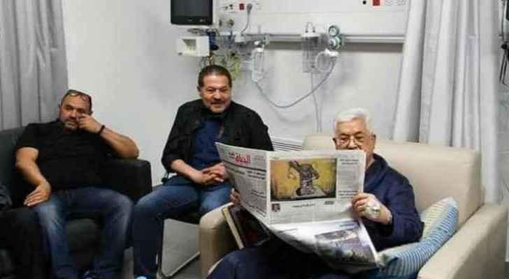 Abbas in Ramallah's Arab Advisory Hospital.