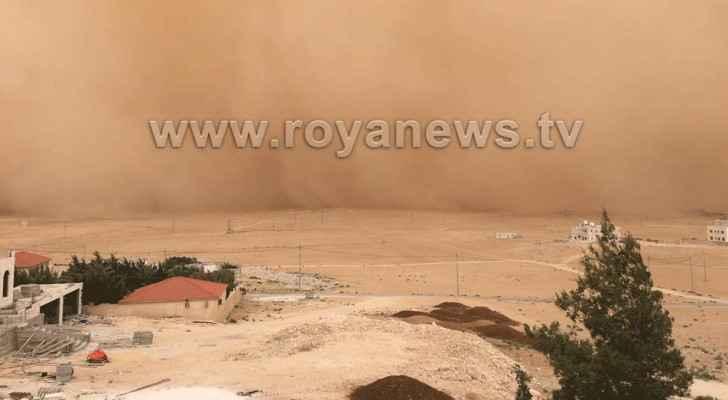 Dust has engulfed Jordan.