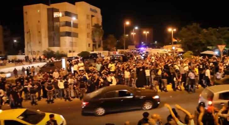 Hundreds gathered at the 4th Circle on Thursday. (Roya TV)