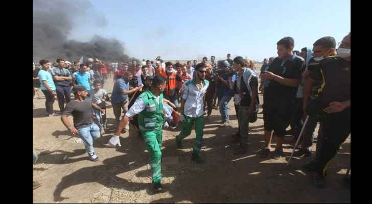 Photo from the demonstrations near the Gaza border