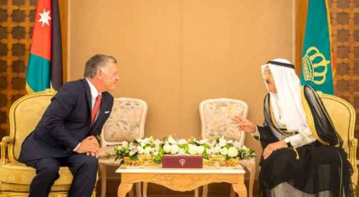 King Abdullah visited the Amir of Kuwait