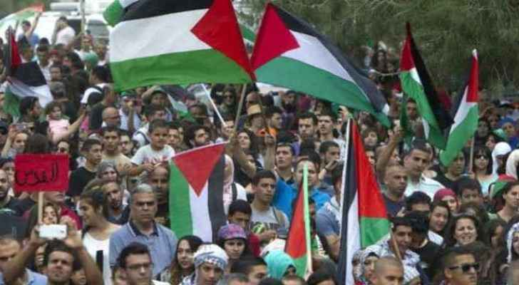 Demonstrations in Ramallah. (File photo)
