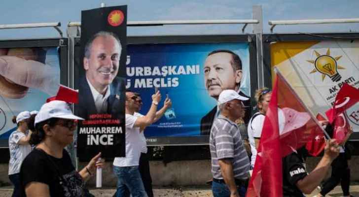 Turks voting for parliamentary, presidential elections.