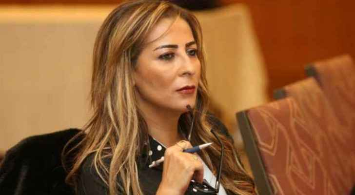 Jordanian Minister of State for Media Affairs, Jumana Ghunaimat during the meeting.
