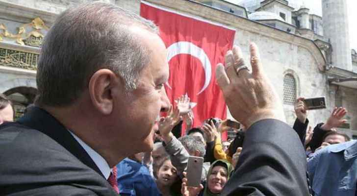 Turkish President Recep Tayyip Erdogan greeting crowds. (file photo)