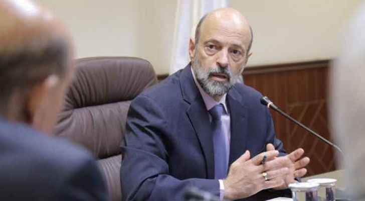 PM Omar Razzaz during the meeting.