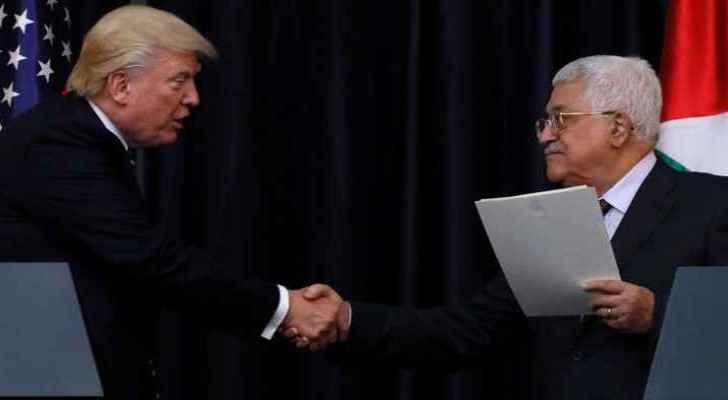 Donald Trump and Mahmoud Abbas (file photo)