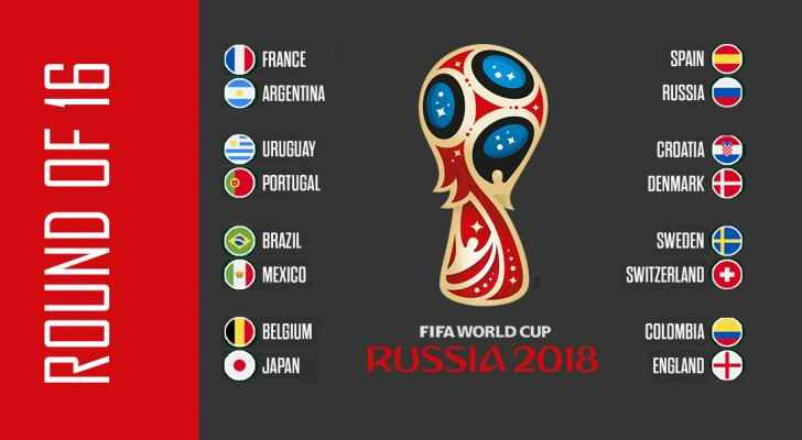 World Cup 'Round of 16' Schedule. (Roya)