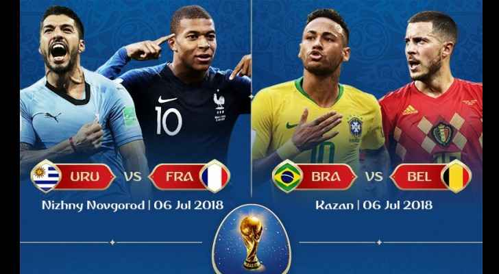 Uruguay, France, Brazil and Belgium. (FIFA)