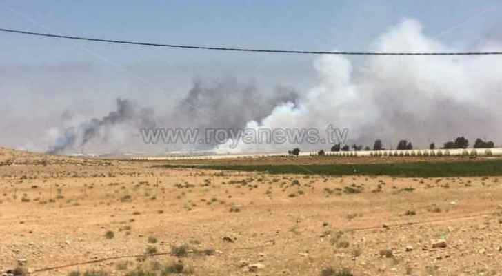 The fire was caused by a group of displaced Syrians who wanted to ignite chaos.