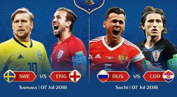 Sweden, England, Russia and Croatia. (FIFA)
