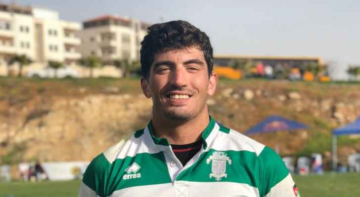Captain of the Jordan national rugby union team, Zaid Arabiat.