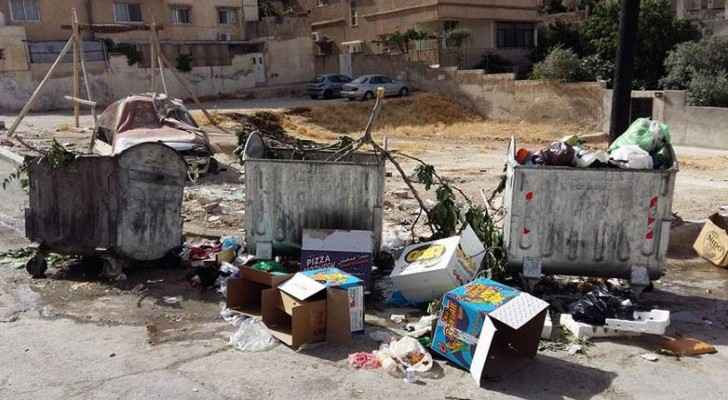The Akeider landfill currently receives 800 tonnes of waste daily. (The Jordan Times)