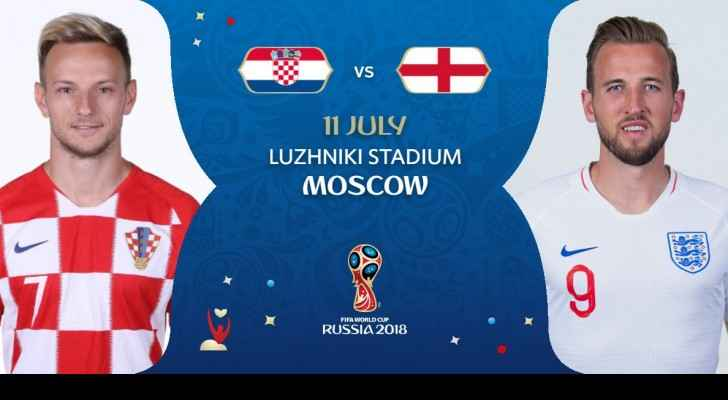 England v.s Croatia, Wednesday, July 11, 2018 (FIFA)