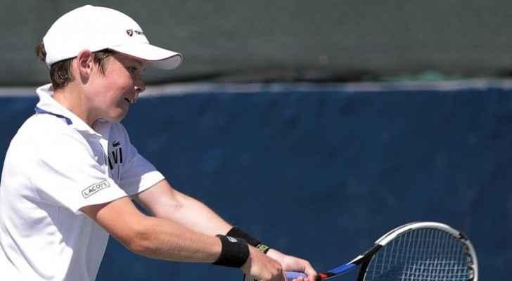 Tennis player at Jordanian Junior Tennis Championship (Jordan Olympic Committee)