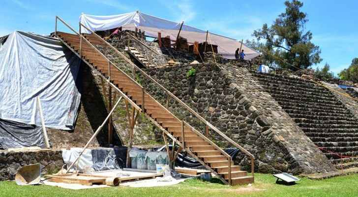 The  ancient shrine  was buried below Tláloc's main temple. (SMITHSONIAN)
