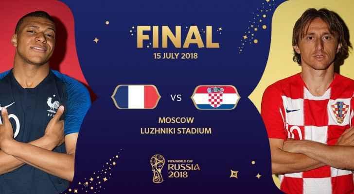France vs Croatia in FIFA final match