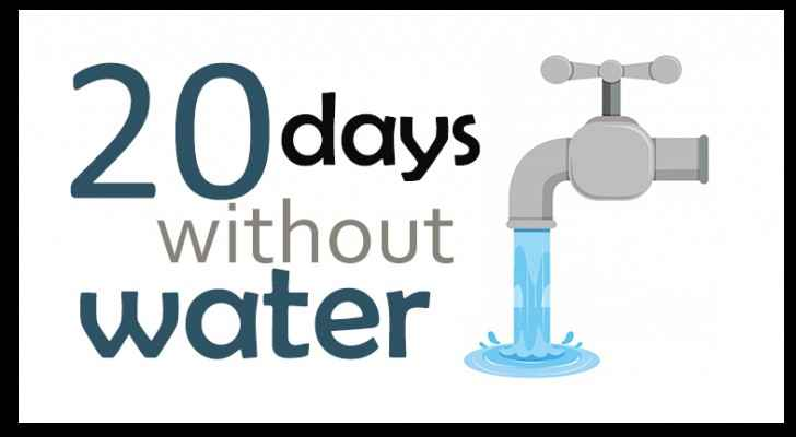 20 days without water in some areas of Ajloun