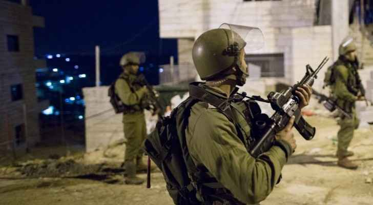 The soldiers used tear gas to scare away the camp's residents. (The Times of Israel)