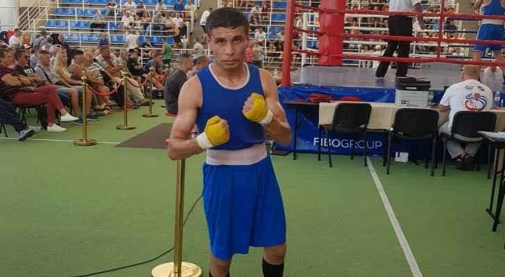 Jordanian boxer Mohammad Al-Wadi. (Jordan Olympic Committee)
