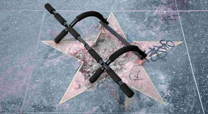 The aftermath of Trump's star being destructed. (USA Today)