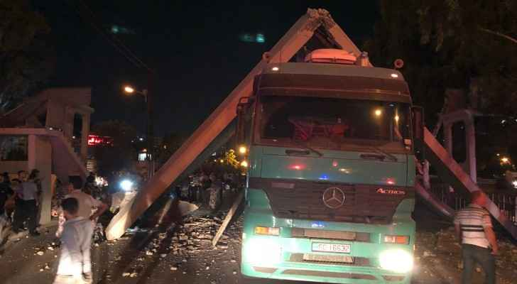 Two other vehicles were under the bridge at the time of the incident. (Roya)
