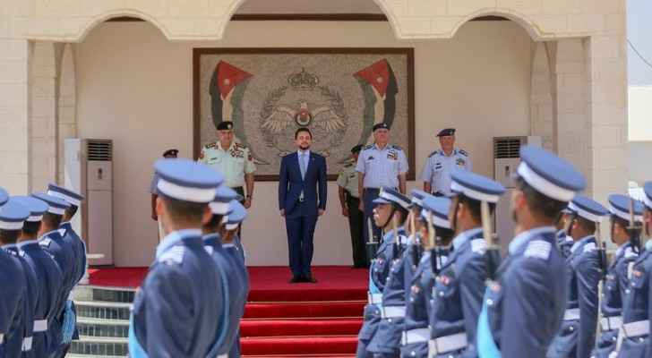 HRH Crown Prince Al Hussein attends Air Force cadets graduation