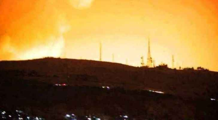 """Syrian air defenses brought down a """"hostile target"""" that had breached its air space"""