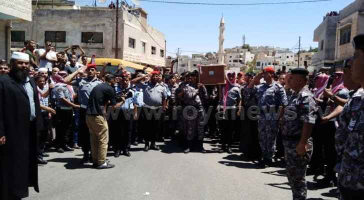 Sergeant Adnan Qouqazeh was laid to rest on Saturday. (Roya)