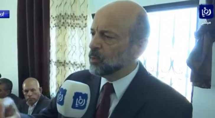 PM Razzaz talks to Roya TV. (Roya)