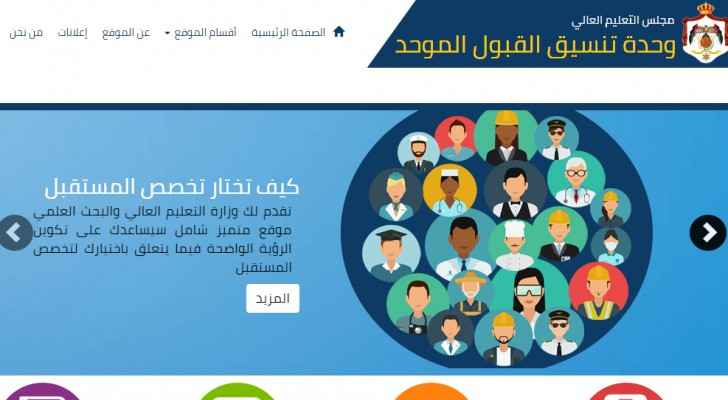Applying to public universities through www.admhec.gov.jo