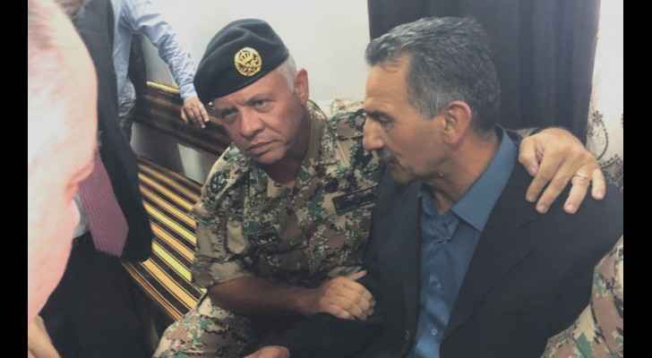 King visits family of martyr Hayajneh in Irbid