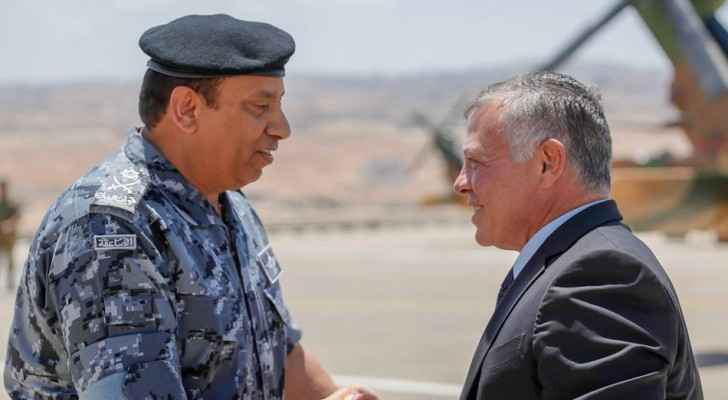 King, accompanied by Crown Prince, visits Gendarmes Directorate