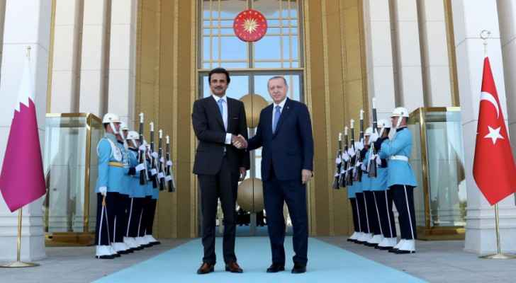 "Qatar's Sheikh Tamim said his country is ""standing by our Turkish brothers."" (Twitter)"