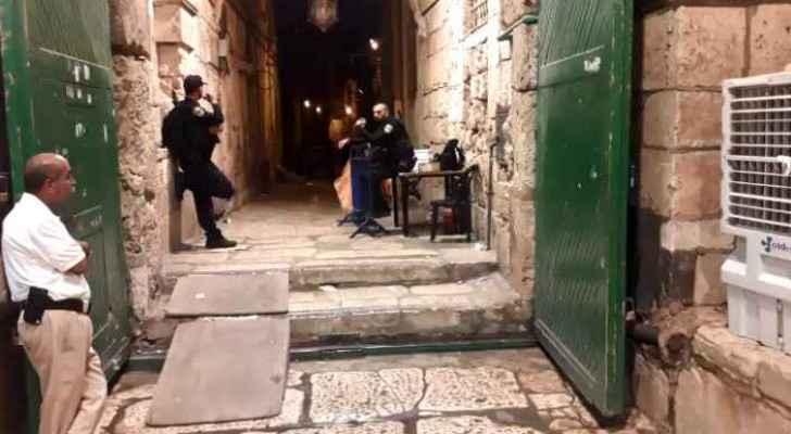 Jordan made contacts in order to reopen Al-Aqsa Mosque gates, which were reopened early on Saturday.