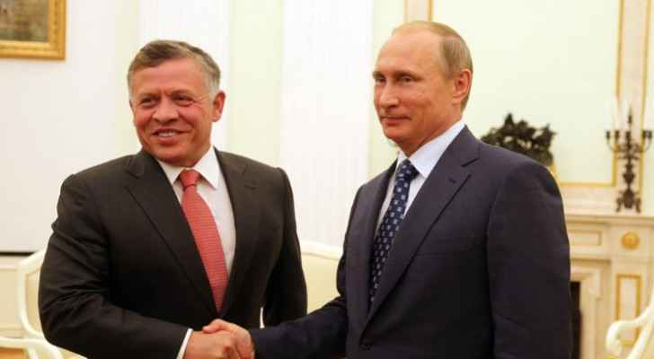 His Majesty King Abdullah and Russian President Vladimir Putin (Archive)