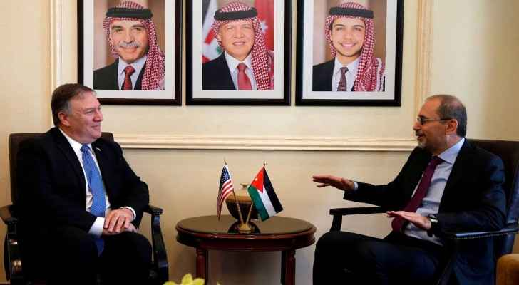 Ayman Safadi and Mike Pompeo. (Archive)