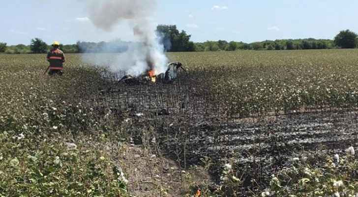 Helicopter crashed over a cotton field, East Williamson County, Texas