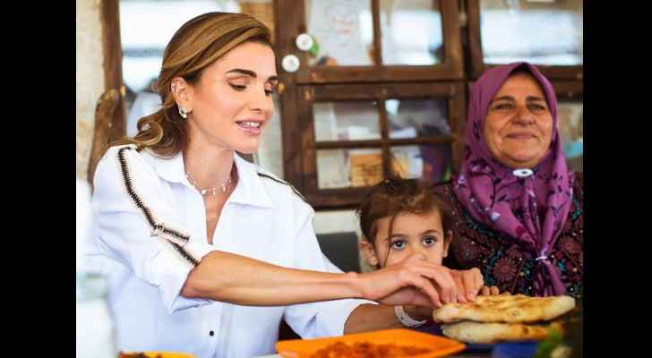 Her Majesty Queen Rania proud of Ajloun women