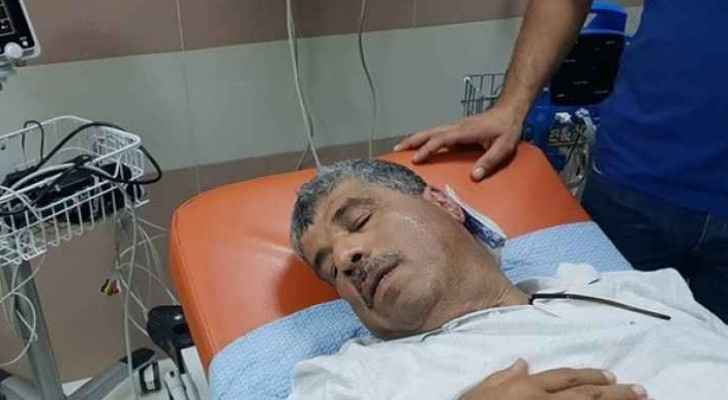 Walid Assaf was shot in his left ear. (Roya)