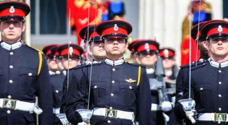 HRH Crown Prince Al Hussein bin Abdullah at the graduation ceremony in Sandhurst.