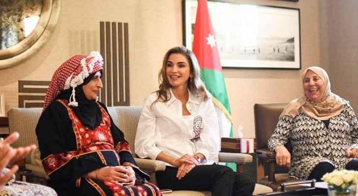 Queen Rania meets women from Jordan Food Week