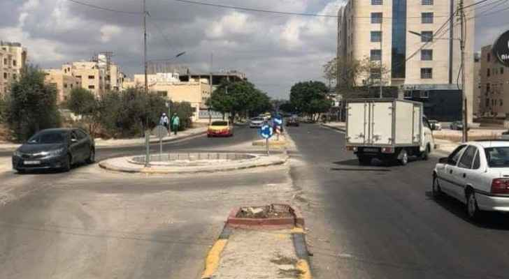 A picture of a second controversial roundabout in Irbid surfaced on social media on Sunday. (Roya)