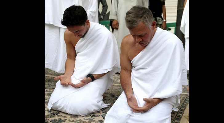 His Majesty King Abdullah and His Royal Highness Crown Prince Al Hussein bin Abdullah II performed Umra on June 10, 2018