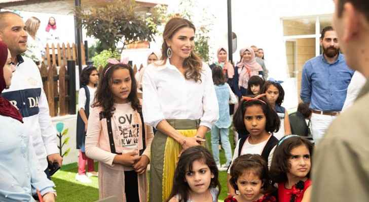 Queen Rania visits King Abdullah II Ibn Al Hussein Orphanage