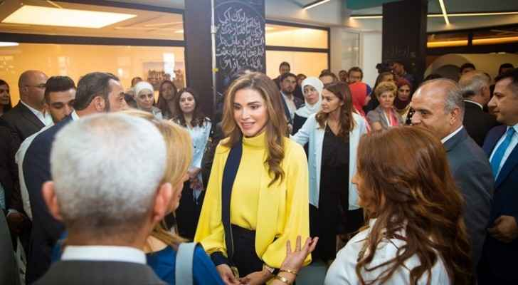 Queen Rania Al Abdullah officially launched the Edraak K-12 platform on Monday. (Queenrania.jo)