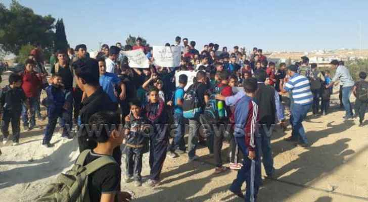 School protest in Karak due to bad premises conditions
