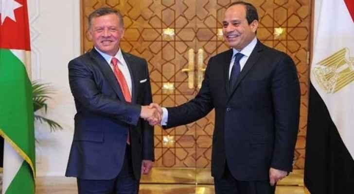 King Abdullah II and President Sisi. (Nile International)
