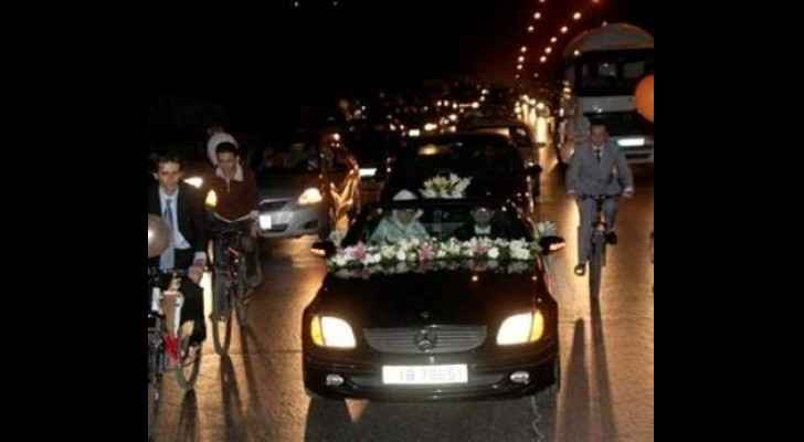This picture does not depict the persons who were at the wedding convoy mentioned in this story. (Khaberni)